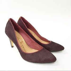 Nanette Lepore Play Me Pump in Wine Calf Hair